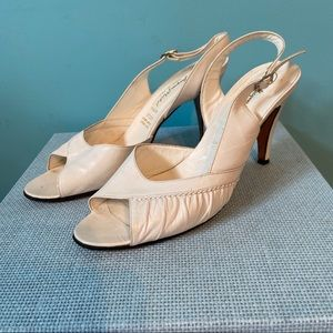 Vintage Jacques Michel white heels